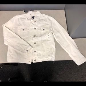 NWT white denim jacket